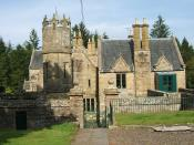 English: Corehouse in Lanarkshire, Scotland. The house is situated by the River Clyde and close to New Lanark.
