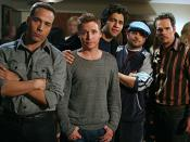 The main characters of Entourage. From left to right: Ari Gold (Jeremy Piven), Eric