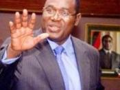 English: Gideon Gono after presenting a monetary policy statement to the Parliament of Zimbabwe, 2008.