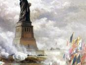 Statue of Liberty unveiled, by Edward Moran