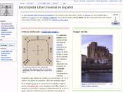 Enciclopedia Libre screenshot of April 1, 2006.