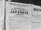 First and Front Streets, San Francisco, California. Exclusion Order posted to direct Japanese Americans living in the first San Francisco section to evacuate.
