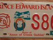 PRINCE EDWARD ISLAND 1997 FIRE DEPARTMENT plate