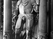 Deutsch: Wandgrab des hessischen Landgrafen Ludwig IV. Testator (gest. 1604) und seiner Gemahlin Hedwig von Württemberg (gest. 1590) in der Lutherischen Pfarrkirche in Marburg geschaffen 1590-93: Statue des Landgrafen.
