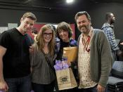 VFS Acting Grads William C. Vaughan and Sara Canning with Carol Kelsay and Head of Acting Bill Marchant