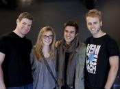 VFS Acting Students With Guest Judges and Acting Grads William C. Vaughan and Sara Canning