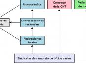 Esquema de la estructura organizativa de la CNT