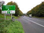English: Road at Loughry Approaching the Loughry Roundabout heading into Cookstown, and coming from Dungannon.