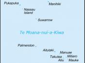 Map of Cook Islands (in New Zealand Māori)