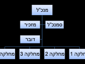 English: an example of a simple organizational structure עברית: דוגמא למבנה ארגוני פשוט