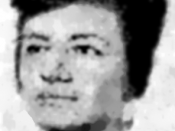 Monochrome portrait of American psychologist Diana Blumberg Baumrind from 1965. Poor-quality image that has been heavily retouched. (See history for original.)