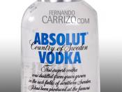 English: Absolut Vodka.