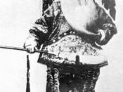 English: Beijing Opera actor Tan Xinpei in the first Chinese movie Dingjunshan (1905)