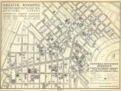 Greater Winnipeg Central Business District Present Street Parking and Traffic Flow Off Street Parking Areas (1946)