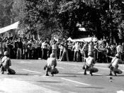 English: Iranian Revolution, in 1978. Deutsch: Demonstration während der iranischen Revolutin 1978. فارسی: اعتراض مردم انقلابی ایران علیه حکومت پهلوی در سال ۱۳۵۷.