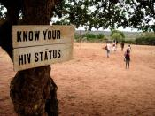 English: Sign: Know your HIV status in Zambia, Africa