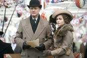 Colin Firth and Helena Bonham Carter filming The King's Speech at Queen Street Mill Textile Museum.