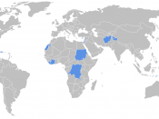 Locations of current UN peacekeeping missions