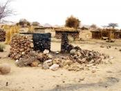 Burnt hut in Darfur