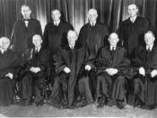 The Supreme Court in 1953, with Chief Justice Earl Warren sitting center.