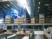 Automatic warehouse for small parts.