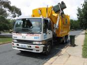 English: Recycling truck in Canberra, ACT