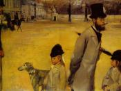 Place de la Concorde, 1875, oil on canvas, by Edgar Degas, Hermitage Museum, St. Petersburg