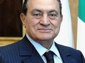 Italiano: Il presidente egiziano Hosni Mubarak durante una visita al Quirinale, Roma.