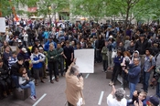 English: Protesters at the Occupy Wall Street protest in New York.