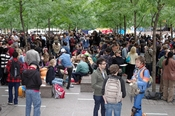 Occupy Wall Street protesters have taken over Zuccotti Park as a base of operations.