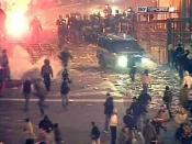 SKY Sport images showed the violent clashes