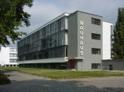 The Bauhaus Building in Dessau, Germany; image taken in 2003.
