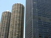English: IBM Building and Marina City, Chicago, IL, USA