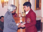 Sanmesh with Dr. Abdul Kalam, President of India