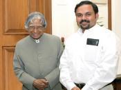 Santhosh George Kulangara with Former President of India, Dr. Abdul Kalam.