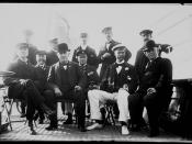 Group portrait with Thomas Alva Edison and Sir Thomas Lipton