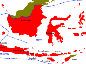 Imperial Japanese areas of control of the Netherlands East Indies (ie, Indonesia)