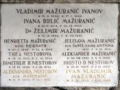 Hrvatski: grob obitelji Mažuranić na Mirogoju