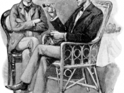 English: Sherlock Holmes (r) and Dr. John B. Watson. Illustration by Sidney Paget from the Sherlock Holmes story The Greek Interpreter. Français : Sherlock Holmes (à droite) et le Docteur Watson (à gauche), illustration de Sidney Paget pour la nouvelle in