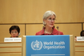 Secretary Sebelius Addresses WHA