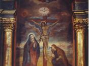 Mural Señor de los Milagros de Nazarenas (Lima) Lord of Miracles