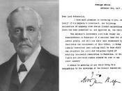 English: Portrait of Lord Balfour, along with his famous declaration עברית: תמות פורטרט של בלפור, לצד הכרזתו המפורסמת