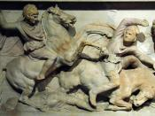 Ancient depiction of Macedonian cavalry.