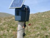 English: Environmentally friendly electric fence? Solar power for a remote location - seems sensible.