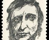 1967 U.S. postage stamp honoring Henry David Thoreau.