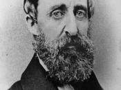English: Henry David Thoreau, photograph taken in August 1861 and published circa 1879, head-and-shoulders portrait, facing slightly right. Edited image from Library of Congress item LC-USZ61-361 (b&w film copy neg.).