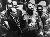 Fidel Castro, president of Cuba, at a meeting of the United Nations General Assembly