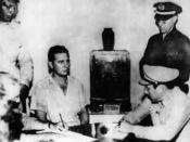 Fidel Castro under arrest in July 1953 after the Moncada attack.