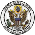 Seal for the United States Fifth Circuit courts (including the appeals court and its district courts).