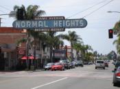 English: Normal Heights, neighborhood of the mid-city region of San Diego, California Deutsch: Normal Heights, Stadtteil von San Diego in Kalifornien